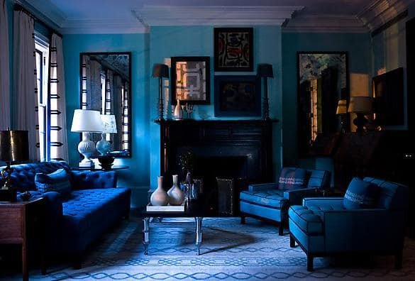 Royal Blue Living Room Decor Design Dilemma Monochromatic Rooms