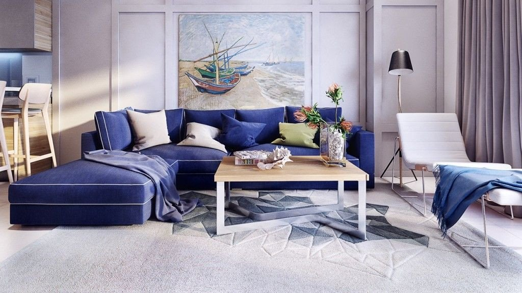 Royal Blue Living Room Decor Stunning and Beautiful Modern Apartment Design Royal Blue