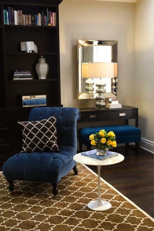 Royal Blue Living Room Decor Turquoise La – Royal Blue & Chocolate Brown Chic Living