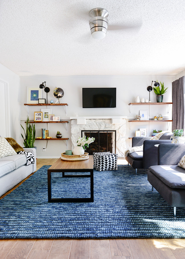 Rug for Living Room Ideas Lowe's Spring Makeover Reveal Bold Style