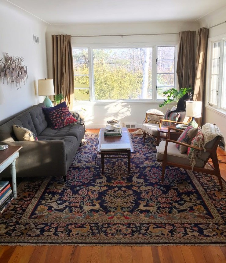 Rugs Contemporary Living Room oriental Rugs In Midcentury Living Rooms Me Likey Retro