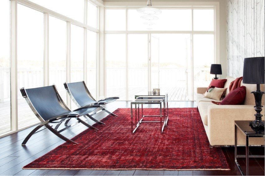 Rugs Contemporary Living Room Overdyed and Persian Rugs Home Designs