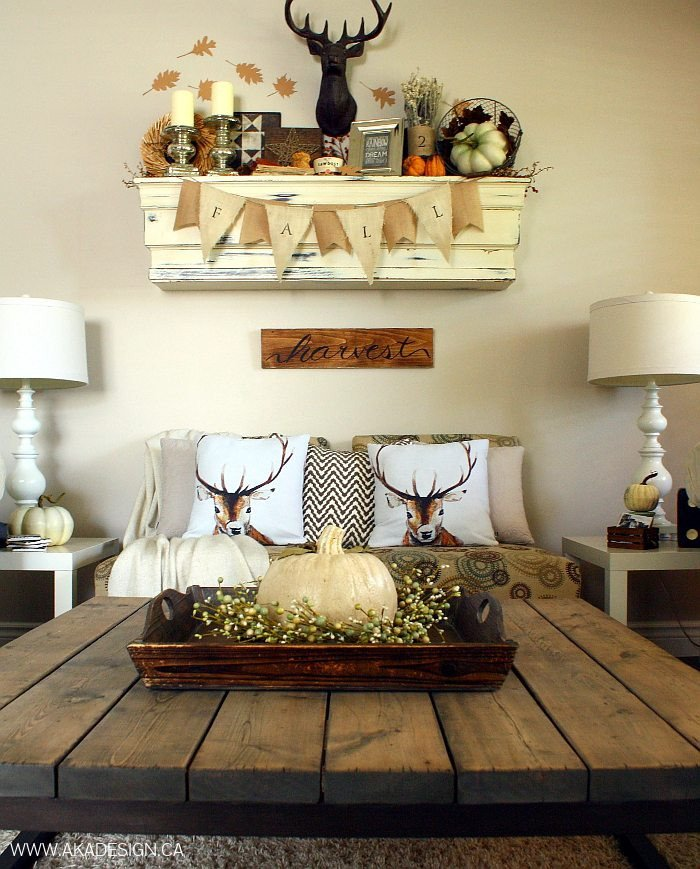 Rustic Chic Decor Living Room Rustic Chic Fall Mantel