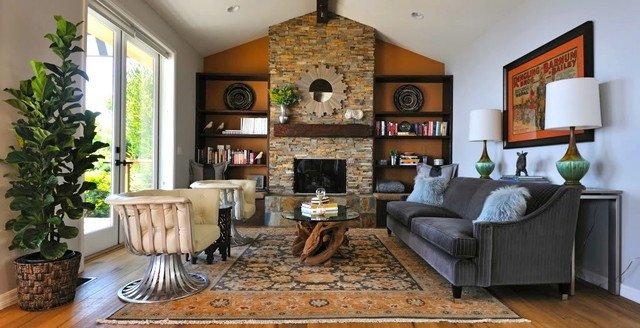 Rustic Modern Decor Living Room Malibu Rustic Modern Ranch House Rustic Living Room