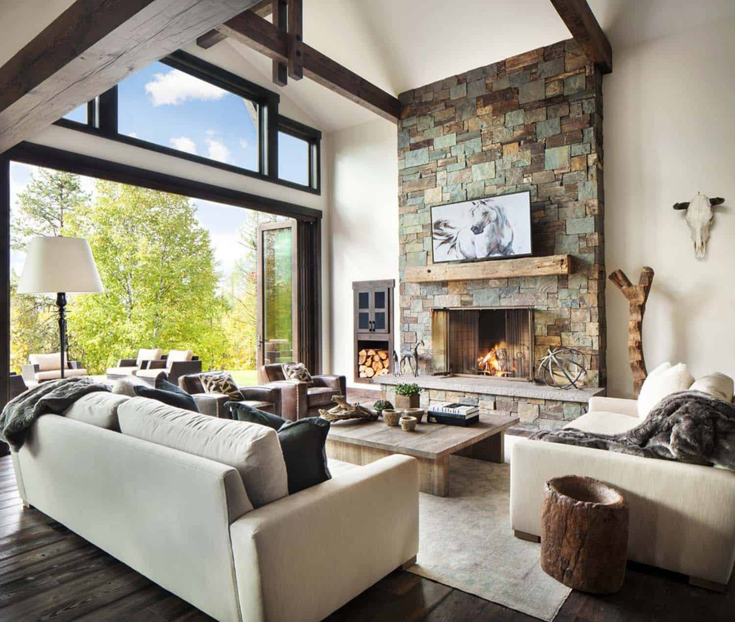 Rustic Modern Decor Living Room Rustic Modern Dwelling Nestled In the northern Rocky Mountains