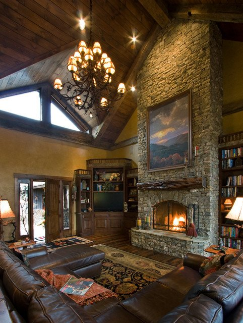 Rustic Traditional Living Room Balsam Mountain Rustic Elegance Rustic Living Room