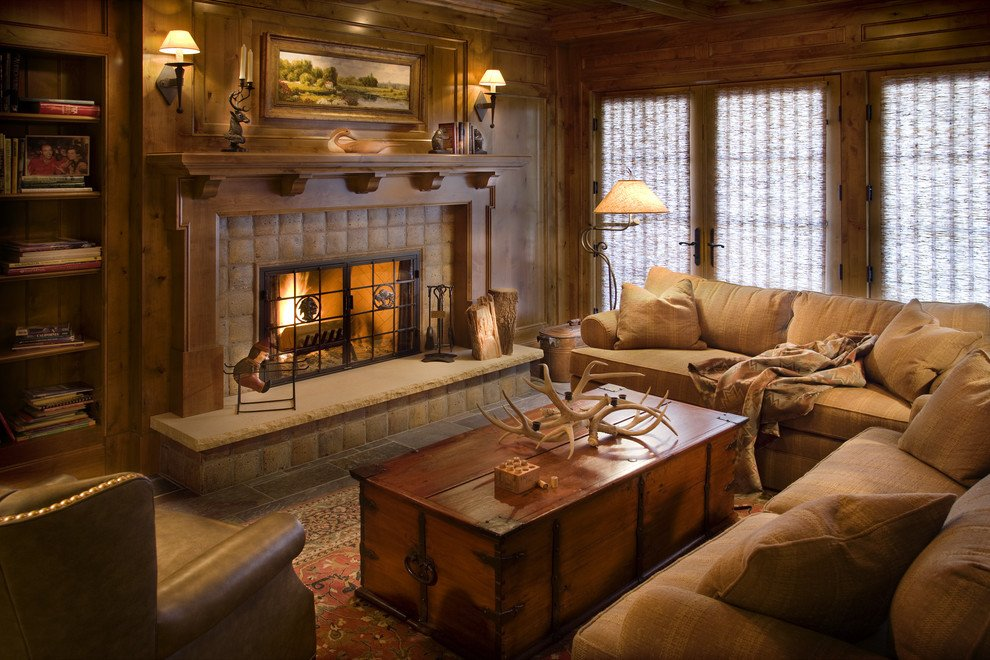 Rustic Traditional Living Room Get Cozy A Rustic Lodge Style Living Room Makeover