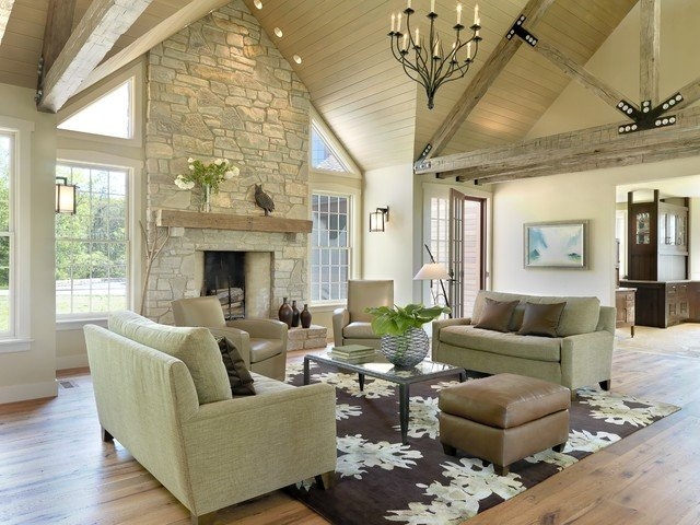 Rustic Traditional Living Room Greatroom Traditional Living Room St Louis by