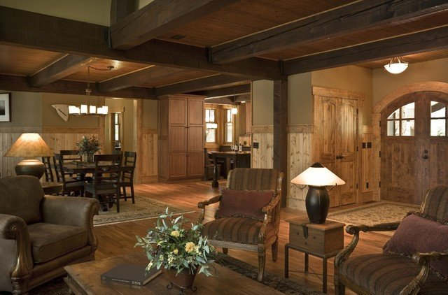 Rustic Traditional Living Room Rustic Cabin Rustic Living Room Minneapolis by