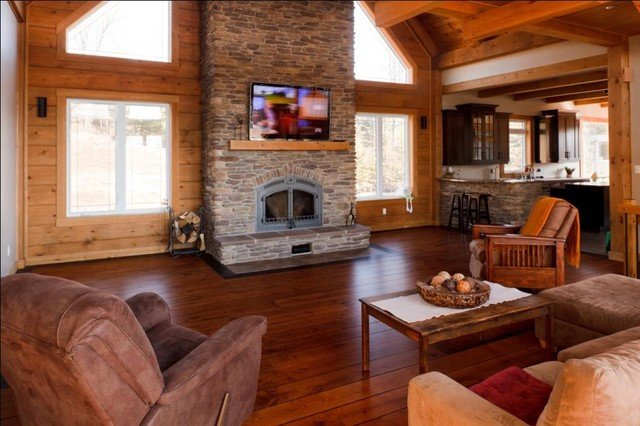 Rustic Traditional Living Room Rustic Cottage Kelly Homes Traditional Living Room