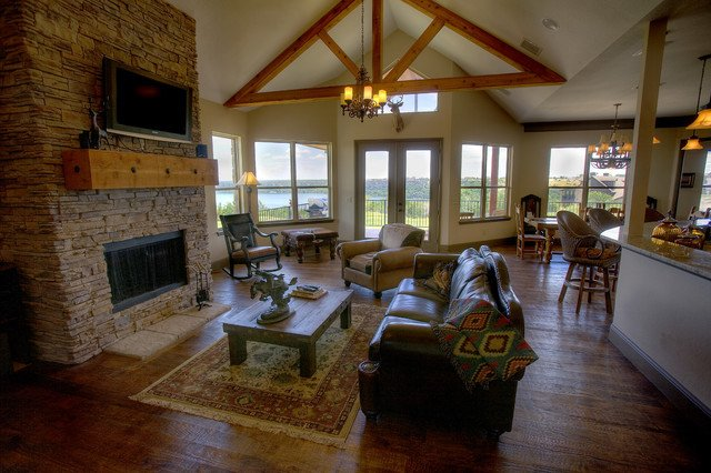 Rustic Traditional Living Room Rustic Elegance Traditional Living Room Other Metro