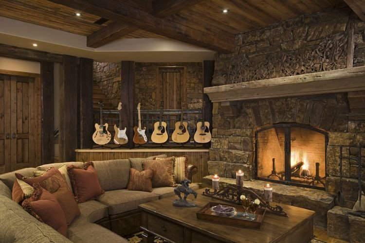Rustic Traditional Living Room Rustic House Design In Western Style Tario Residence
