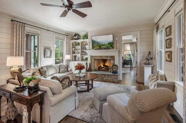 Rustic Traditional Living Room Rustic Ramble Cottage Traditional Living Room Other
