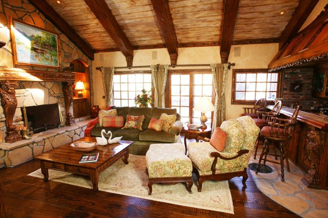 Rustic Traditional Living Room Rustic Traditional Style