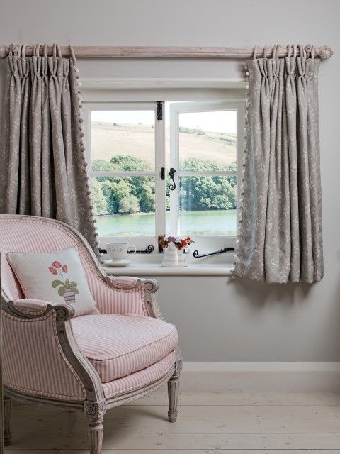 Short Curtains for Bedroom with Small Cottage Windows Shorter Curtains Emphasis the