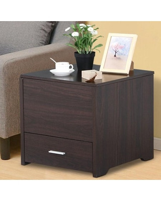Side Table for Bedroom Yaheetech Yaheetech Bedside Table Cabinet Storage Wood Drawer and Sliding top sofa Side End Table Bedroom Living Room Furniture Espresso From Wal Mart