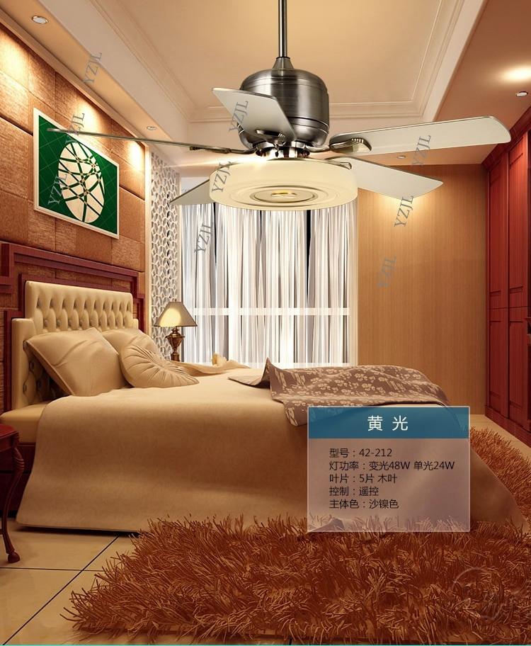 Silent Fan for Bedroom Livingroom Fan Lamp Ceiling Fan 48inch Bedroom Modern Silent Fan Lamp Remote Control Restaurant Frequency Conversion Ceiling Fan