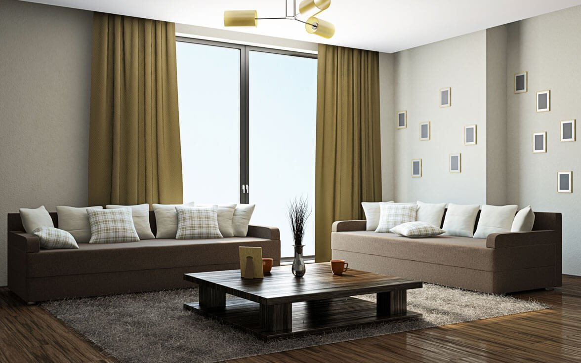 Simple Modern Living Room Decorating Ideas Curtain Design