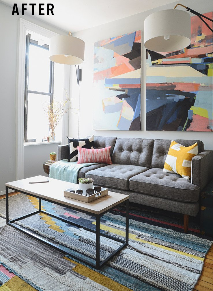 Small Apartment Living Room Decor Small Mid Century Living Room