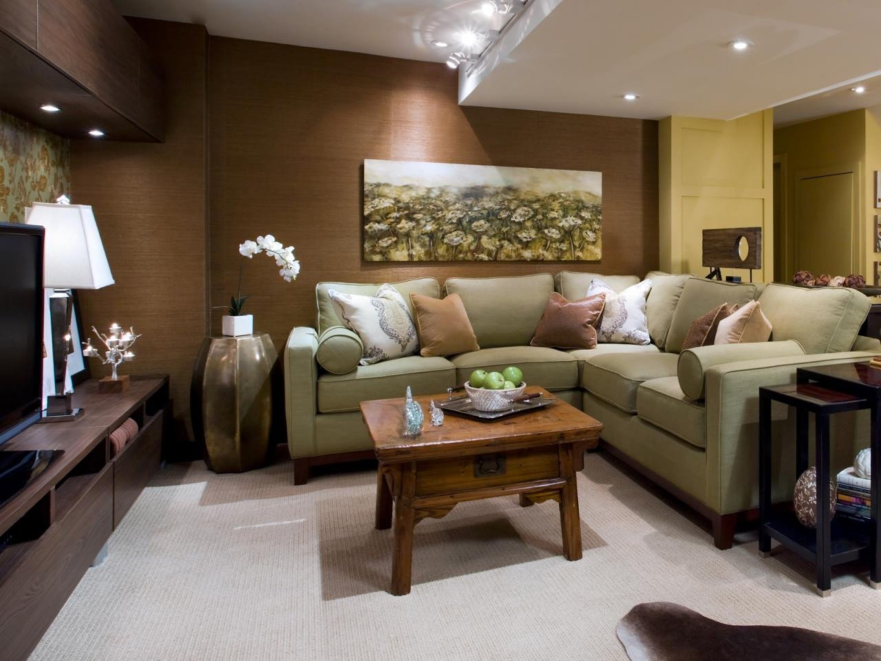 Small Basement Living Room Ideas 10 Chic Basements by Candice Olson