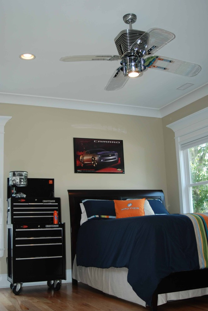 Small Bedroom Ceiling Fan Automotive Bedroom Contemporary Kids Charleston by