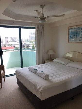 Small Bedroom Ceiling Fan Bedroom Of Apartment 6c with Ceiling Fan and Small Balcony