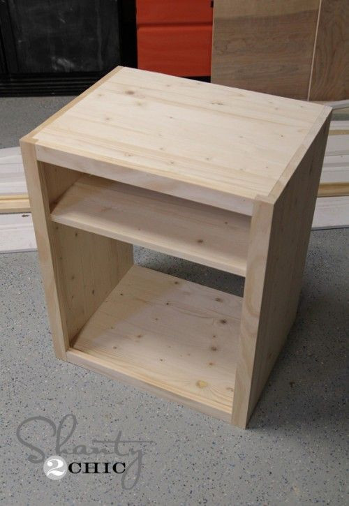 Small Bedroom End Tables Diy Nightstand