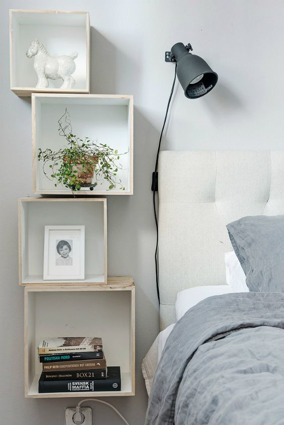 Small Bedroom Side Tables 27 Tiny Nightstands for Small Bedrooms Shelterness