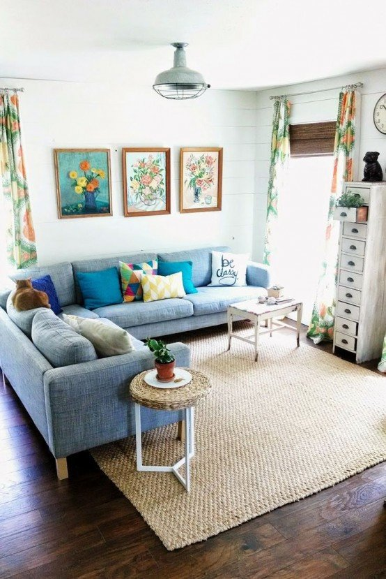 Small Blue Living Room Ideas 33 Cheerful Summer Living Room Décor Ideas Digsdigs