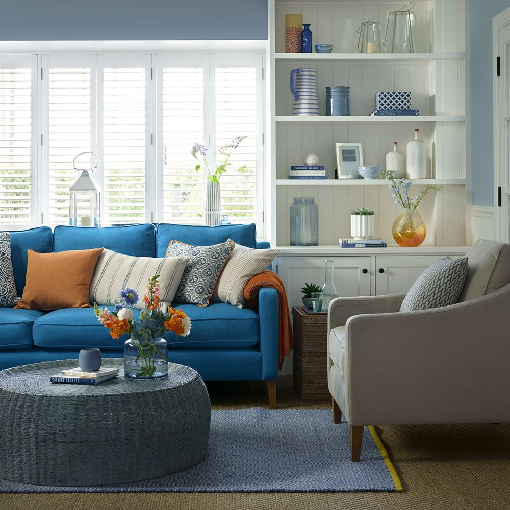 Small Blue Living Room Ideas Blue Living Room Ideas – From Midnight to Duck Egg See