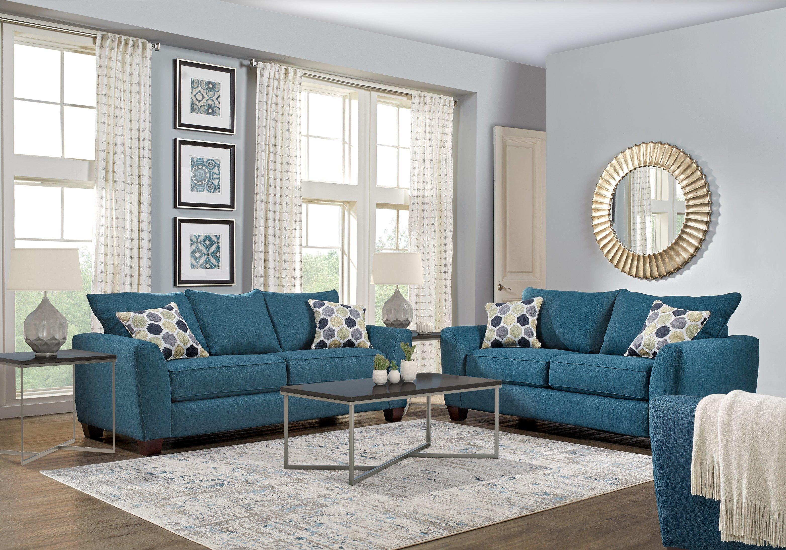 Small Blue Living Room Ideas Bonita Springs Blue 2 Pc Sleeper Living Room Living Room