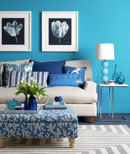 Small Blue Living Room Ideas Colorful Decorating Ideas for A Small Room