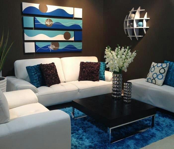 Small Blue Living Room Ideas Love Blue N Brown