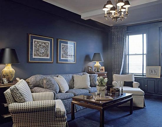 Small Blue Living Room Ideas Navy Blue Living Room Decorating Ideas