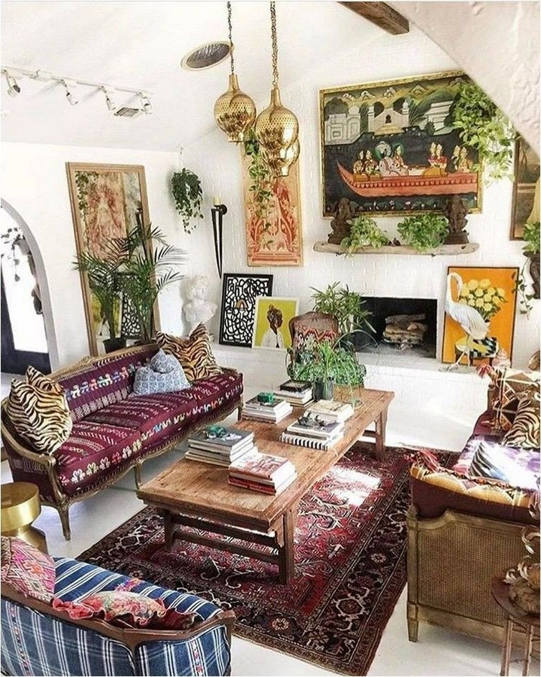 Small Bohemian Living Room Ideas 188 Small Spaces with Wonderful Maximalist Decorating