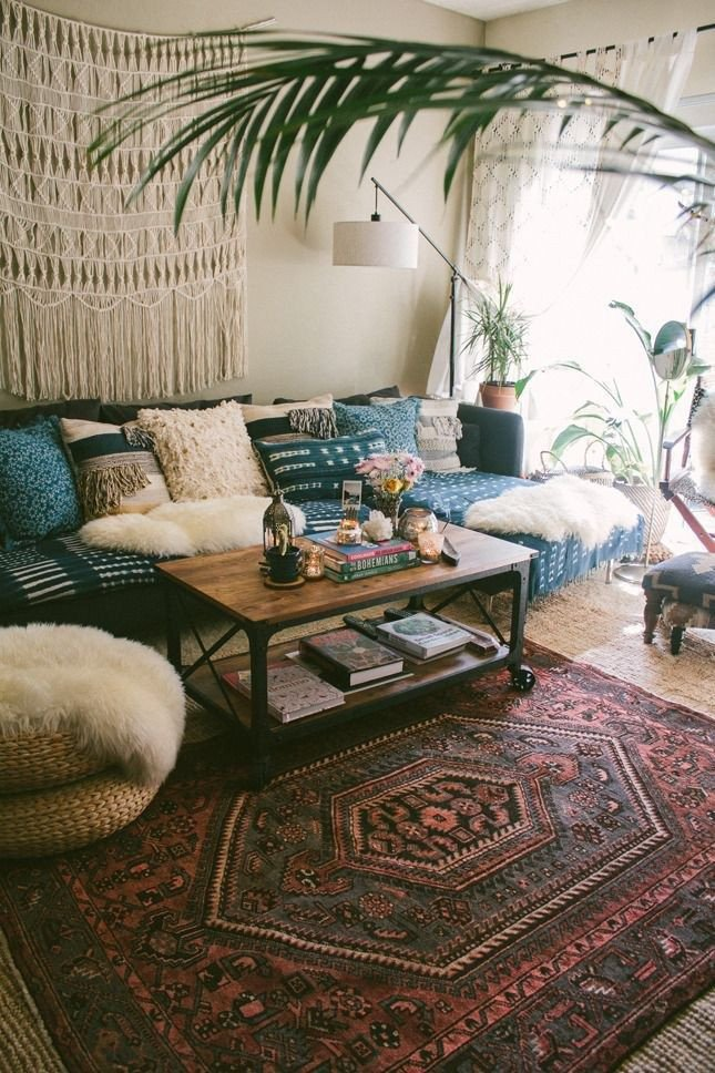 Small Bohemian Living Room Ideas Boho Decorating Ideas for Your First Cozy Home 17 Decor