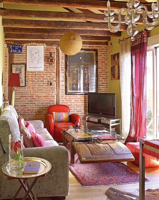 Small Bohemian Living Room Ideas Small Bohemian Feminine Apartment In Paris Decoholic