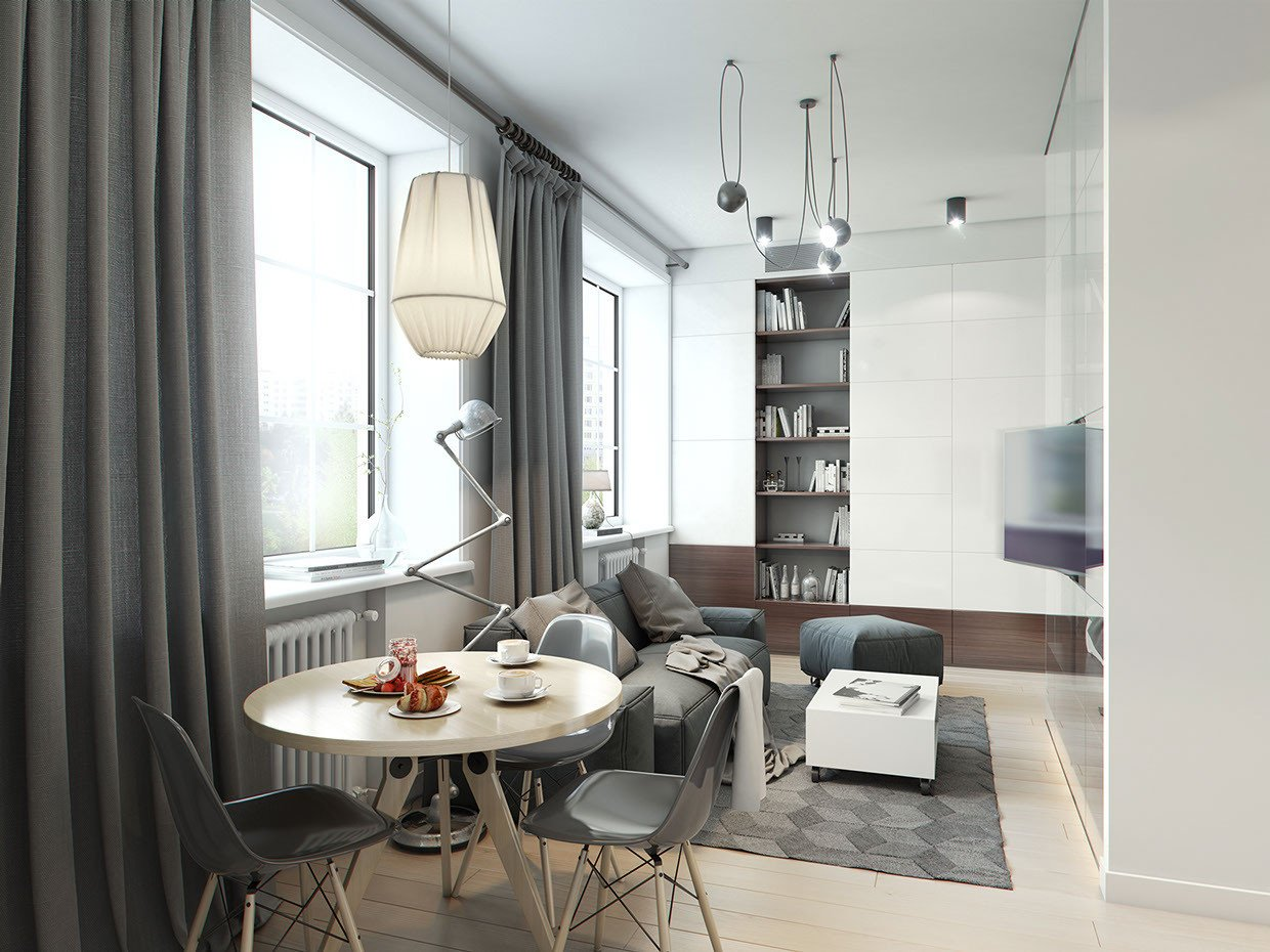 Small Gray Living Room Ideas A Super Small 40 Square Meter Home