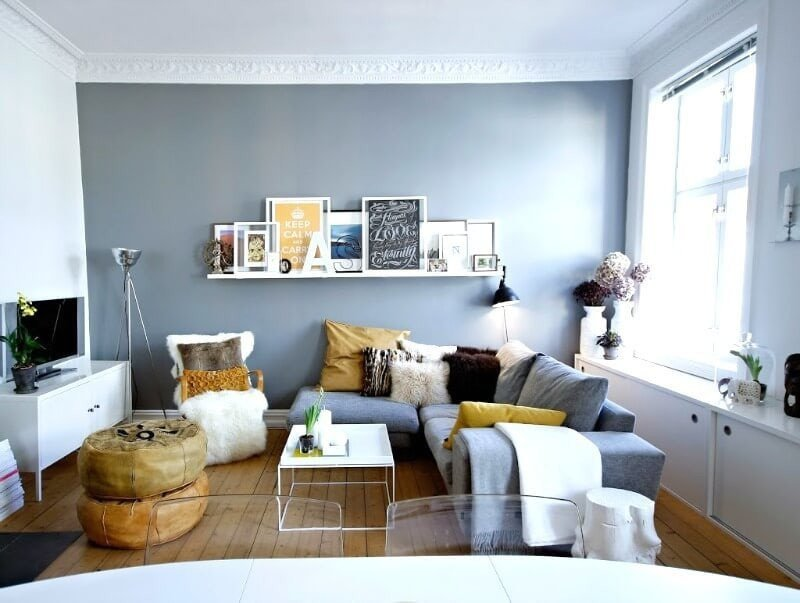 Small Gray Living Room Ideas How to Make Your Small Living Room Feel Colossal