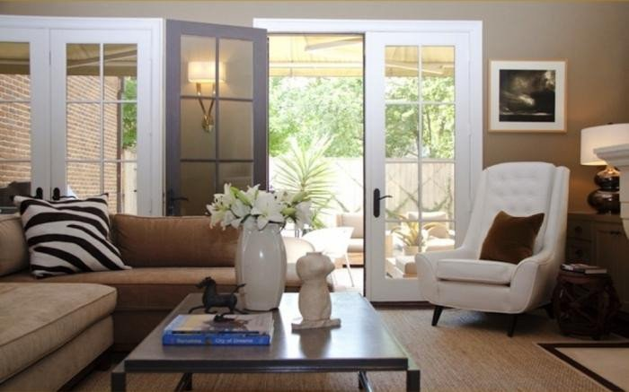 Small Living Room Ideas Doors 20 Living Room Ideas with French Doors