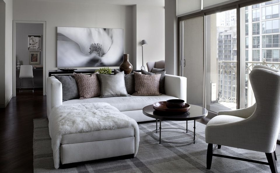 Small Living Room Interior Design 35 Chic Gray & Neutral Living Spaces City Condo