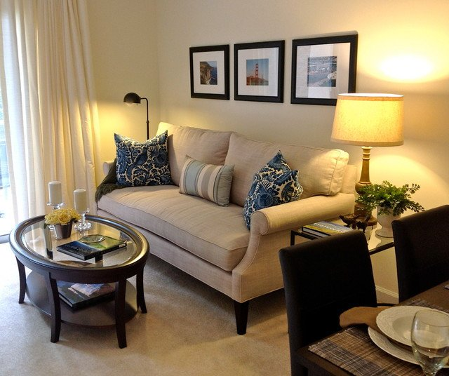 Small Living Room Interior Design Small Apartment Living Contemporary Living Room