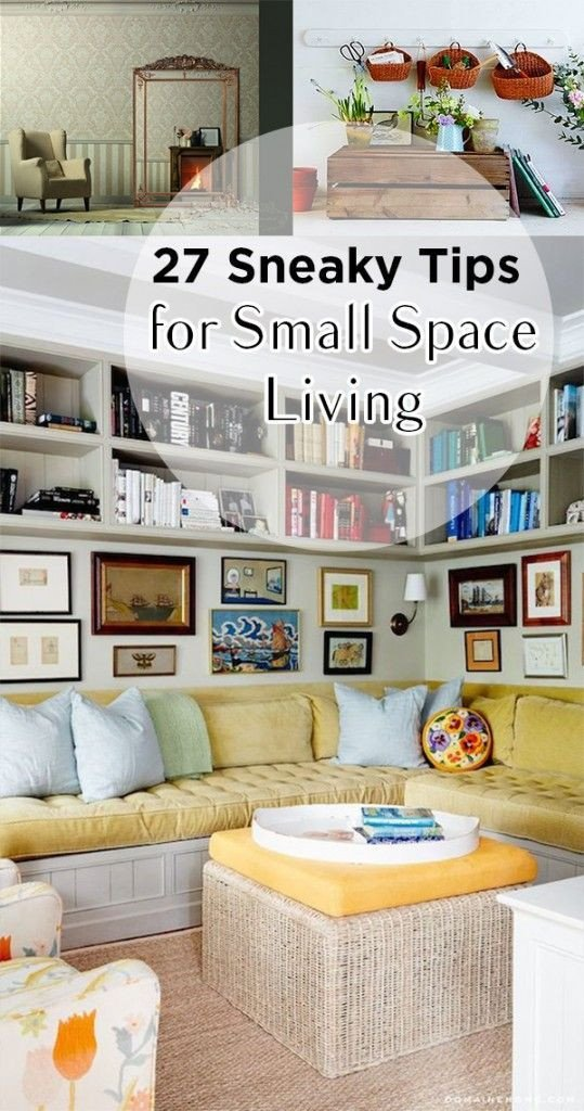 Small Living Room organization Ideas 27 Sneaky Tips for Small Space Living