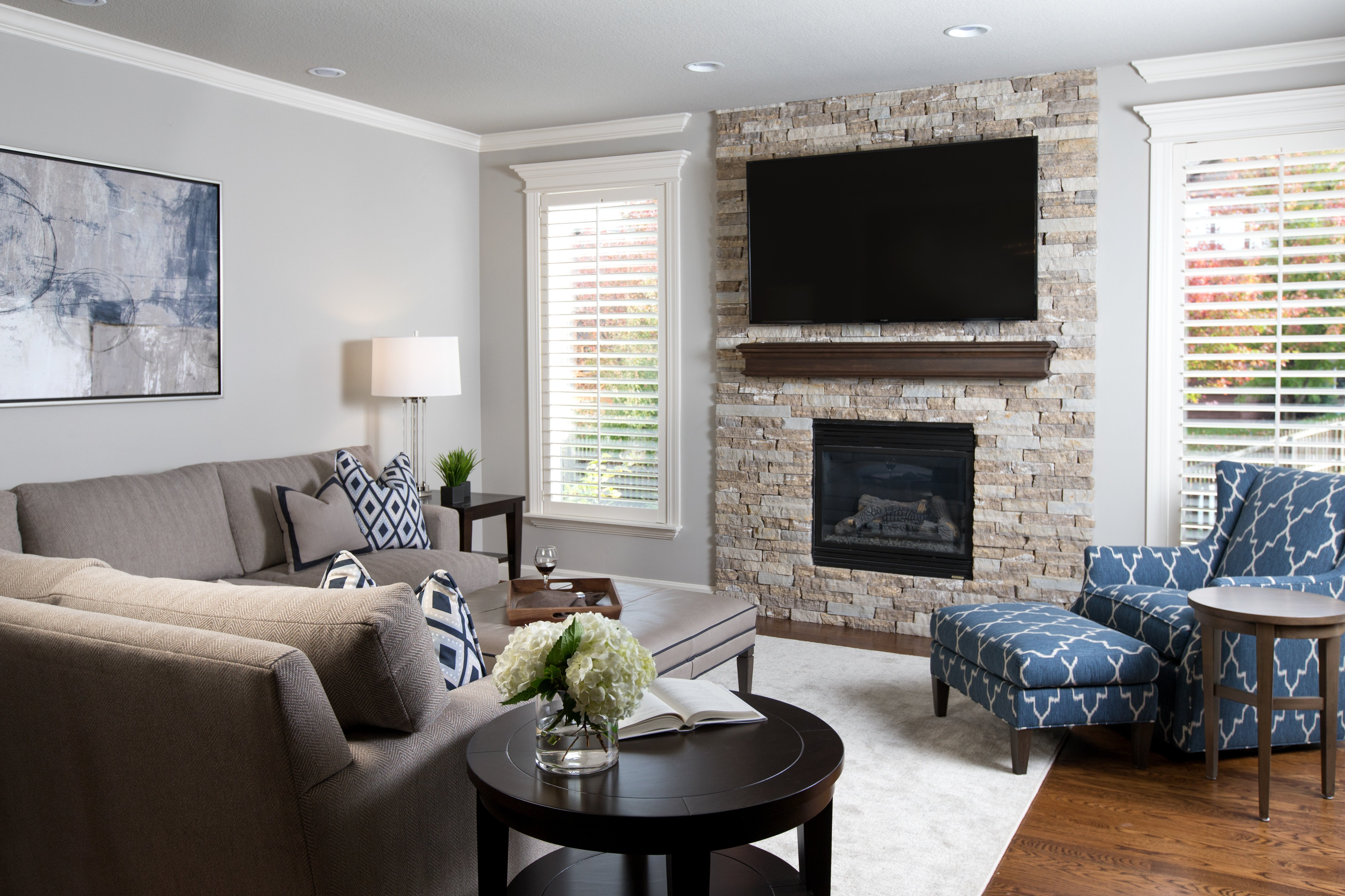 Small Living Room with Fireplace A Tale Of Two Fireplaces A Design Connection Inc