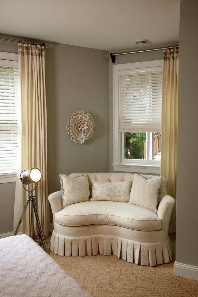Small Loveseat for Bedroom Curved Loveseat Gray Green Walls
