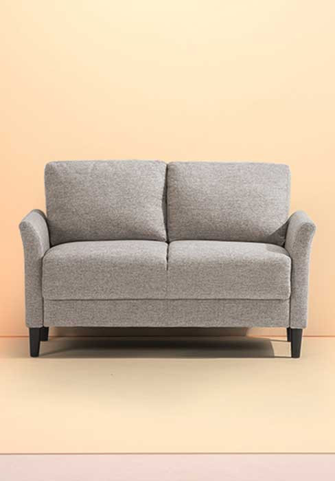 Small Loveseat for Bedroom Zinus Jackie Classic Upholstered 53 5 Inch sofa Couch Loveseat soft Grey