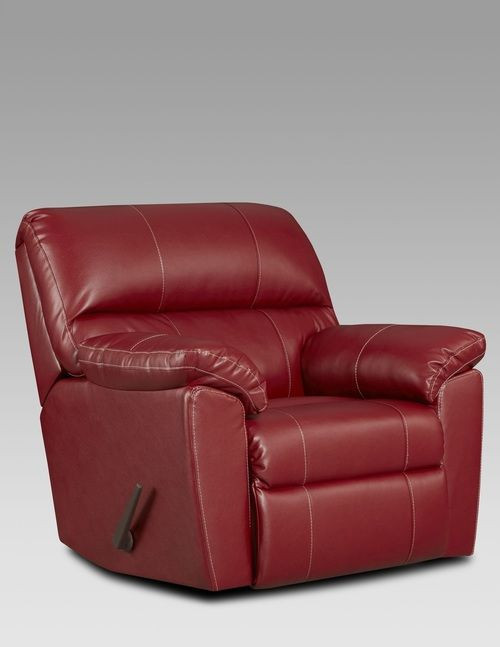 Small Recliners for Bedroom Affordable Furniture Austin Red Rocker Recliner 2450 so