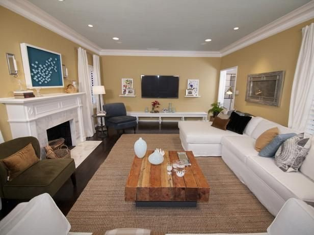 Small Rectangle Living Room Ideas Rectangle Living Room Casual Neutral Family Room Our