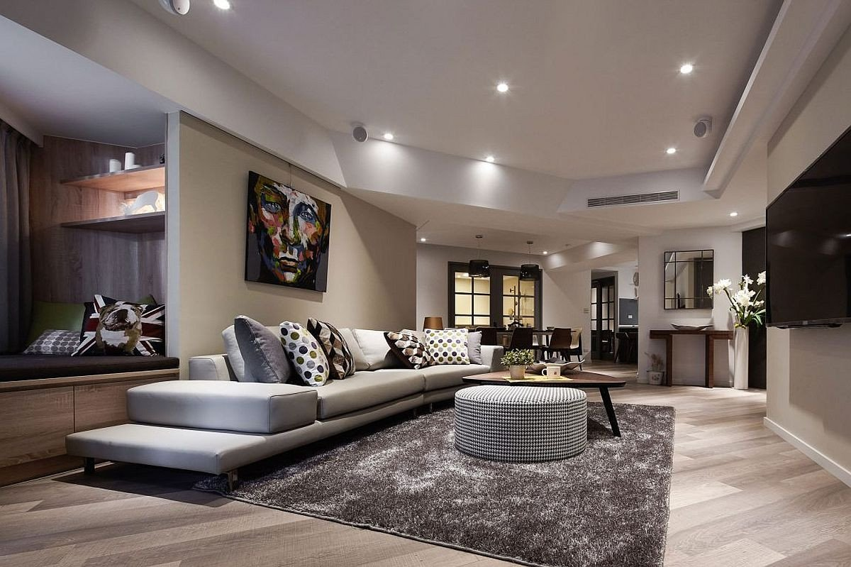 Smallmodern Living Room Decorating Ideas Dark sophistication Thirty Year Old Apartment Embraces A