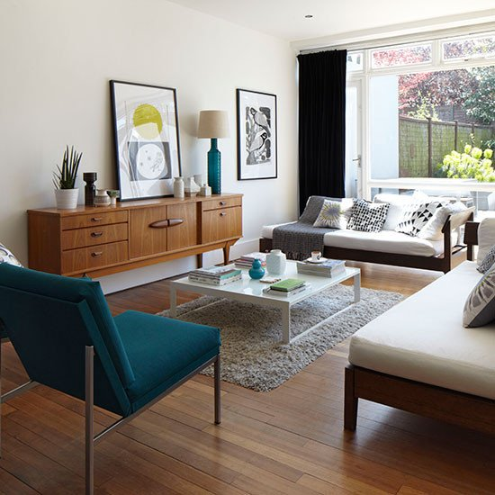 Smallmodern Living Room Decorating Ideas Mid Century Style White Living Room